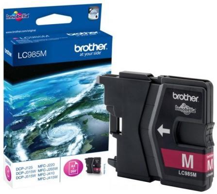 Картридж струйный Brother LC985M картридж струйный brother lc663bk