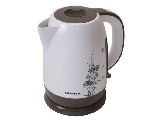 цена на Чайник Supra KES-1807 2200 Вт белый 1.8 л пластик