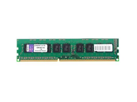 Оперативная память 8Gb PC3-12800 1600MHz DDR3 DIMM ECC Kingston KVR16E11/8 оперативная память 8gb pc3 12800 1600mhz ddr3 dimm corsair vengeance 10 10 10 27 cmz8gx3m1a1600c10