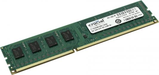 Оперативная память 8Gb PC3-12800 1600MHz DDR3 DIMM Crucial CT102464BD160B оперативная память 8gb pc3 12800 1600mhz ddr3 dimm corsair vengeance 10 10 10 27 cmz8gx3m1a1600c10