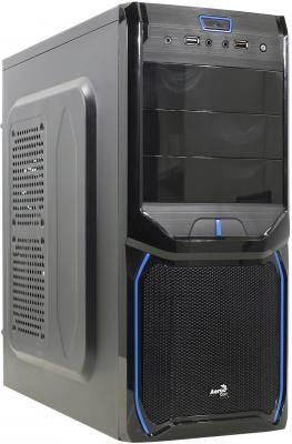 Корпус ATX Aerocool V3X Advance Evil Blue Edition Без БП чёрный синий EN57349