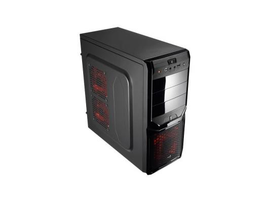 Корпус ATX Aerocool V3X Advance Black Edition Без БП чёрный EN57332 aerocool v3x advance evil blue edition black