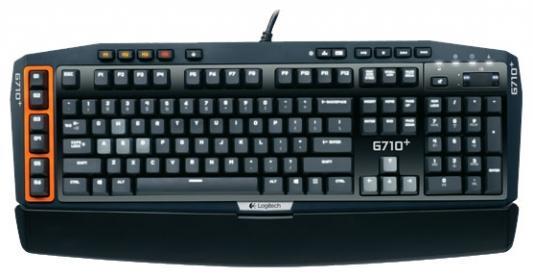 Клавиатура Logitech G710+ Mechanical Gaming USB черный 920-005707 logitech g710