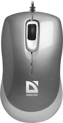 Мышь проводная DEFENDER Orion 300 серый USB 52817 мышь defender orion 300 black usb 52813