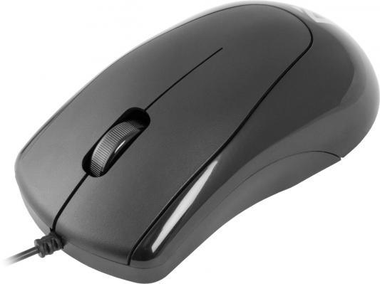 Мышь проводная DEFENDER Optimum MB-150 чёрный PS/2 52150