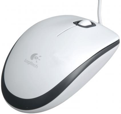 цена на Мышь проводная Logitech M100 белый USB 910-001605/910-005004