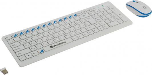 Клавиатура+ мышь Defender Skyline 895 Nano W(Белый) Кл:104, 1000/1500/2000dpi все цены