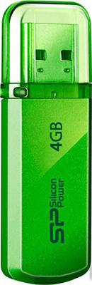 Внешний накопитель 4GB USB Drive <USB 2.0> Silicon Power Helios 101 Green SP004GBUF2101V1N