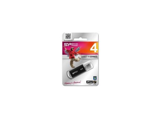 Внешний накопитель 4GB USB Drive <USB 2.0> Silicon Power Ultima II Black I-series