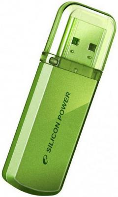Внешний накопитель 8GB USB Drive <USB 2.0> Silicon Power Helios 101 Green