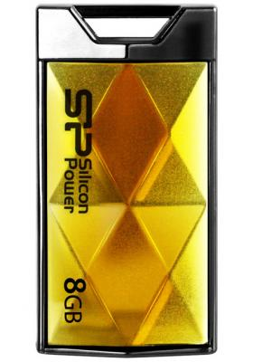 Внешний накопитель 8GB USB Drive <USB 2.0> Silicon Power Touch 850 Amber