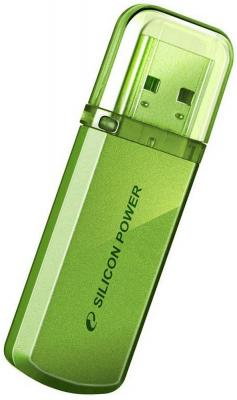 Фото - Внешний накопитель 16GB USB Drive <USB 2.0> Silicon Power Helios 101 Green SP016GBUF2101V1N флешка usb silicon power helios 101 64гб usb2 0 зеленый [sp064gbuf2101v1n]