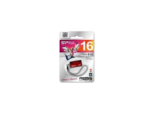 Внешний накопитель 16GB USB Drive <USB 2.0> Silicon Power Touch 810 Red SP016GBUF2810V1R