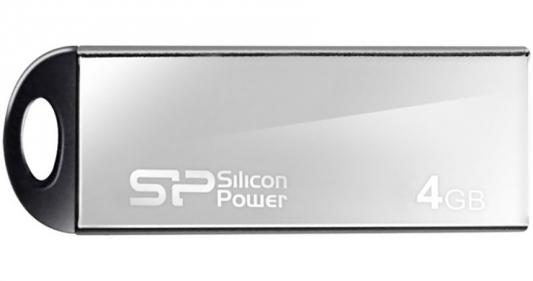 Внешний накопитель 4GB USB Drive <USB 2.0> Silicon Power Touch 830 Silver