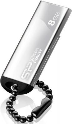Внешний накопитель 8GB USB Drive <USB 2.0> Silicon Power Touch 830 Silver