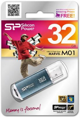 Внешний накопитель 32GB USB Drive <USB 3.0> Silicon Power M01 Blue SP032GBUF3M01V1B
