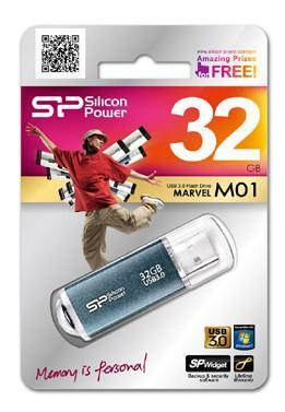 Внешний накопитель 32GB USB Drive <USB 3.0> Silicon Power M01 Blue SP032GBUF3M01V1B внешний накопитель 32gb usb drive