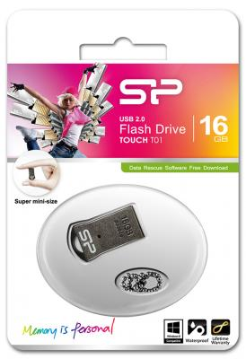 Внешний накопитель 16GB USB Drive <USB 2.0> Silicon Power T01 Black SP016GBUF2T01V1K