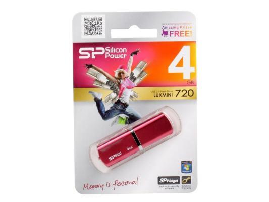 Внешний накопитель 4GB USB Drive <USB 2.0> Silicon Power LuxMini 720 Pink SP004GBUF2720V1H