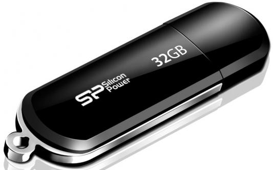 Внешний накопитель 32GB USB Drive <USB 2.0> Silicon Power LuxMini 322 Black SP032GBUF2322V1K внешний накопитель 16gb usb drive &lt usb 2 0&gt silicon power luxmini 322 black sp016gbuf2322v1k