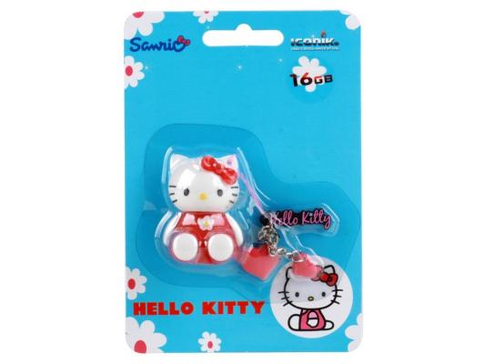 Внешний накопитель 16GB USB Drive <USB 2.0> Iconik Hello Kitty Red usb flash drive 16gb iconik снеговик rb sm1 16gb