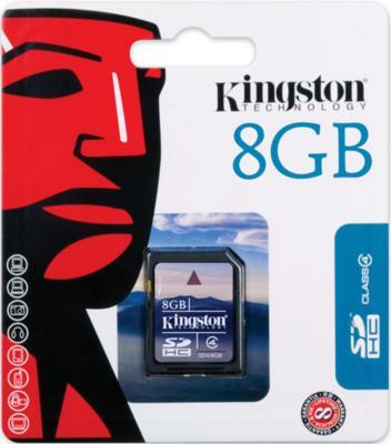 Карта памяти SDHC 8Gb Kingston Class4