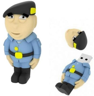 Внешний накопитель 8GB USB Drive <USB 2.0> Iconik Полицейский