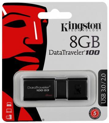 Внешний накопитель 8GB USB Drive <USB 3.0> Kingston DT100G3 (DT100G3/8GB)