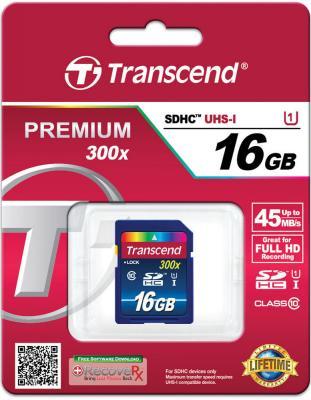 Карта памяти SDHC 16Gb Transcend Class10 UHS-I карта памяти transcend 32gb sdhc class 10 uhs i ts32gsdhc10u1