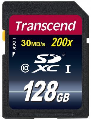 Карта памяти SDXC 128Gb Transcend Class10 карта памяти sdxc 128gb class 10 transcend ts128gsdxc10