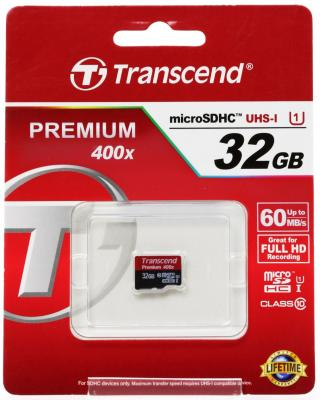 Карта памяти MicroSDHC 32GB Transcend Class10 U1 no Adapter (TS32GUSDCU1) блокнот printio no game no life