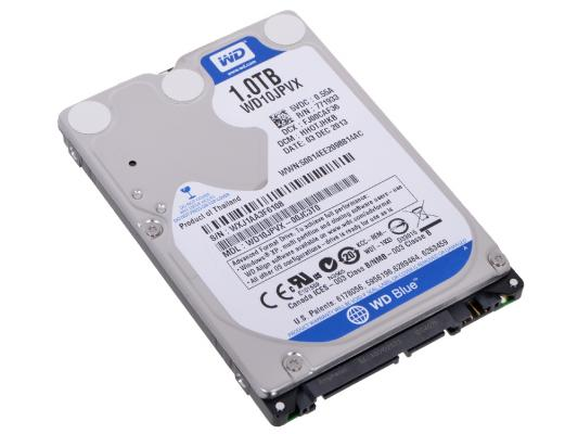 2.5 Жесткий диск 1Tb Western Digital Scorpio Blue (WD10JPVX) SATA III (9.5 mm, 8mb, 5400rpm) материнская плата gigabyte ga h61m s2pv rev 2 2