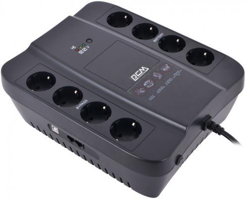 Источник бесперебойного питания Powercom SPD-850U Spider 850VA/510W USB AVR RJ11 RJ45 4+4 EURO output