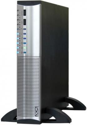 Источник бесперебойного питания Powercom SRT-1500A 1500VA Черный Серебристый источник бесперебойного питания powercom srt 1500a smart king rt 1440va 1008w rs232 usb avr rackmount tower
