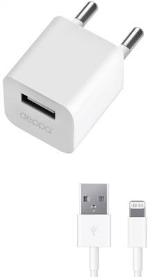 Сетевое зарядное устройство Deppa 11305 8-pin Lightning 1A белый