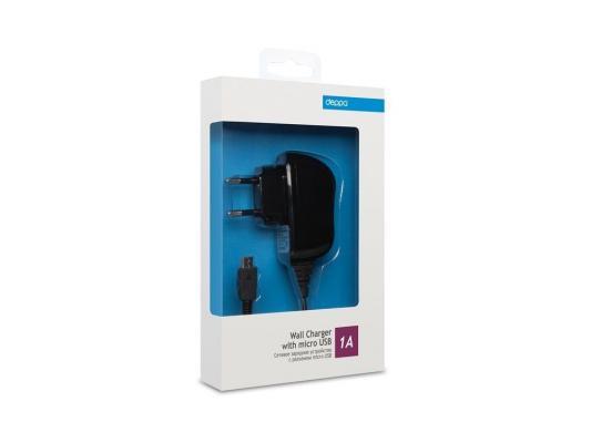 Сетевое зарядное устройство Deppa  micro USB для цифровых устройств, 1A, черный (23120)