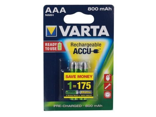 Аккумулятор Varta Ready 2 Use 800 mAh AAA 2 шт аккумуляторы varta 56703 800 mah