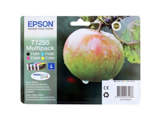 Набор картриджей Epson C13T12954010/С13Т12954012 T1295 Multipack для SX420W BX305F цена