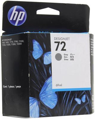 Картридж HP C9401A (№72) Gray 69 ml картридж для принтера hp c9399a 72 69 ml magenta ink cartridge