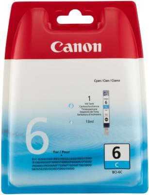 Картридж BCI-6C голубой для Canon Pixma 4000/5000/6000/MP750/MP780 картридж bci 3epc голубой для canon i530d i550 i850