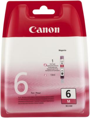 Струйный картридж Canon BCI-6M пурпурный для Canon PIXMA 4000/5000/6000/MP750/MP780 картридж canon bci 3em для canon bc 31 bc 33 s600 пурпурный