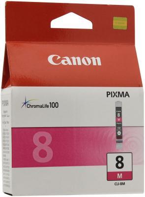 Картридж CLI-8M пурпурный Pixma MP800/MP500/iP6600D/iP5200/iP5200R/iP4200 набор картриджей canon cli 8c m y из 3х цветов для pixma mp800 mp500 ip6600d ip5200 ip5200r ip4200 ix5000 700 страниц