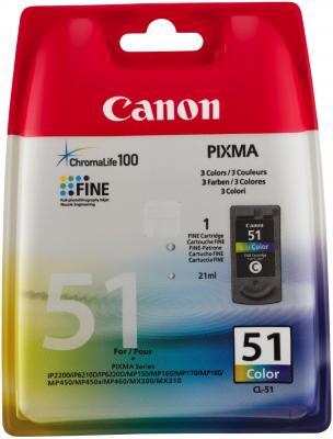Купить Картридж Canon CL-51 цветной для Pixma 450\150\170 повыш емкости