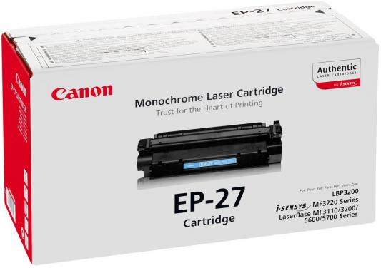 Тонер-картридж Canon EP-27 (LBP-3200/MF5630/MF5650) crown micro ct c4092a ep 22 black тонер картридж для hр 1100 3200 3150 canon lbp800 810 1120