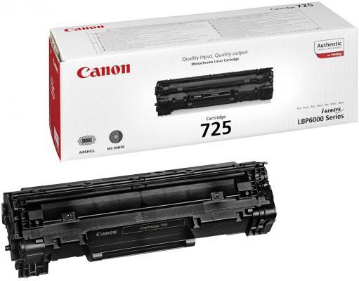 Тонер-картридж Canon 725 для LBP6000/6000B (1 600 стр) картридж t2 для hp tc h85a laserjet p1102 1102w pro m1132 m1212nf m1214nfh canon i sensys lbp6000 cartrige 725 1600 стр с чипом