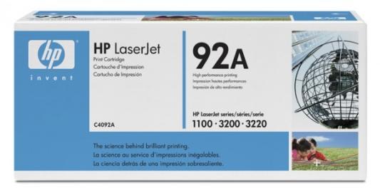 Картридж HP C4092A для LaserJet 1100 1100A 3200 3220 черный 2500стр картридж nv print для hp lj 1100 1100a 3200 c4092a