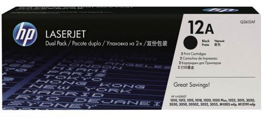 Тонер-картридж HP Q2612AF\\AD(двойная упаковка) LJ1010/1012/1015 двойная упаковка картриджей hp 304a cc530ad черный