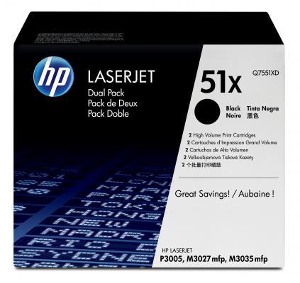 Фото - Тонер-картридж HP Q7551XD двойная упаковка ( LJ P3005/M3035mfp/M3027mfp) тонер картридж 728 3500b010 русифицированная упаковка