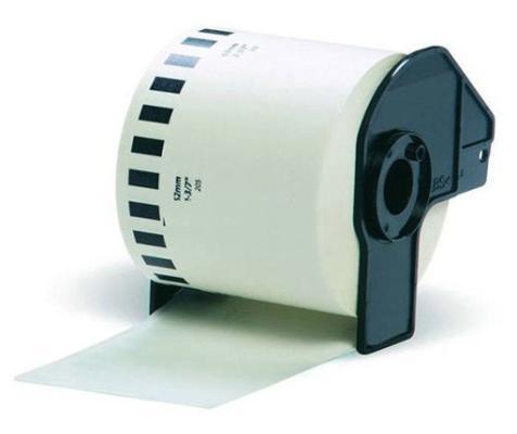 Бумажная клеящаяся лента 62мм Brother DK22205