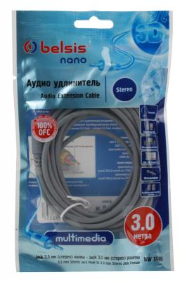 Кабель Audio Belsis Jack 3.5M/3.5F 3m, BW1446